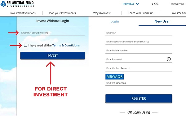How to invest in SBI Mutual Fund Online Direct