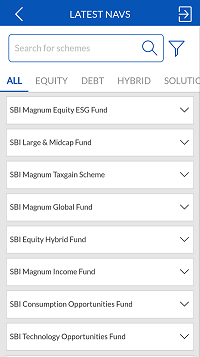 SBI Mutual Fund Latest NAV Details Investap