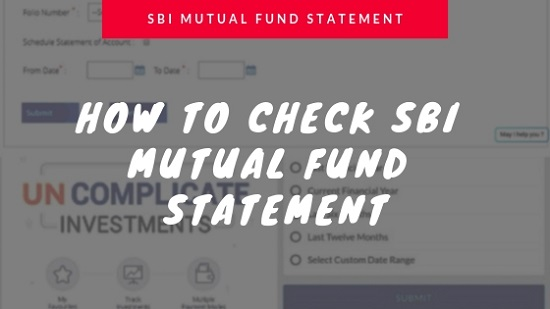 How to check sbi mutual fund statement